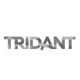 Tridant greyscale square