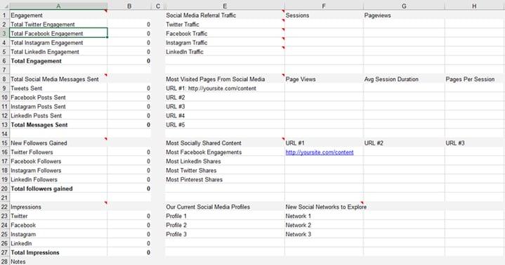 Social_media_audit_on_a_spreadsheet