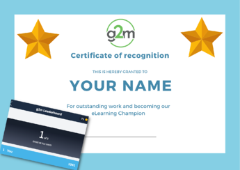 g2m eLearning Champion Certificate